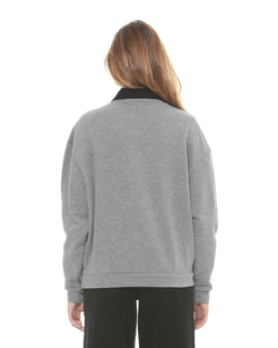Sweatshirt with pearls and sequins