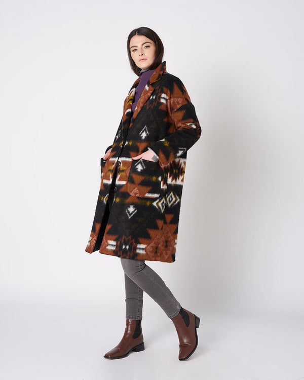 Country style long coat