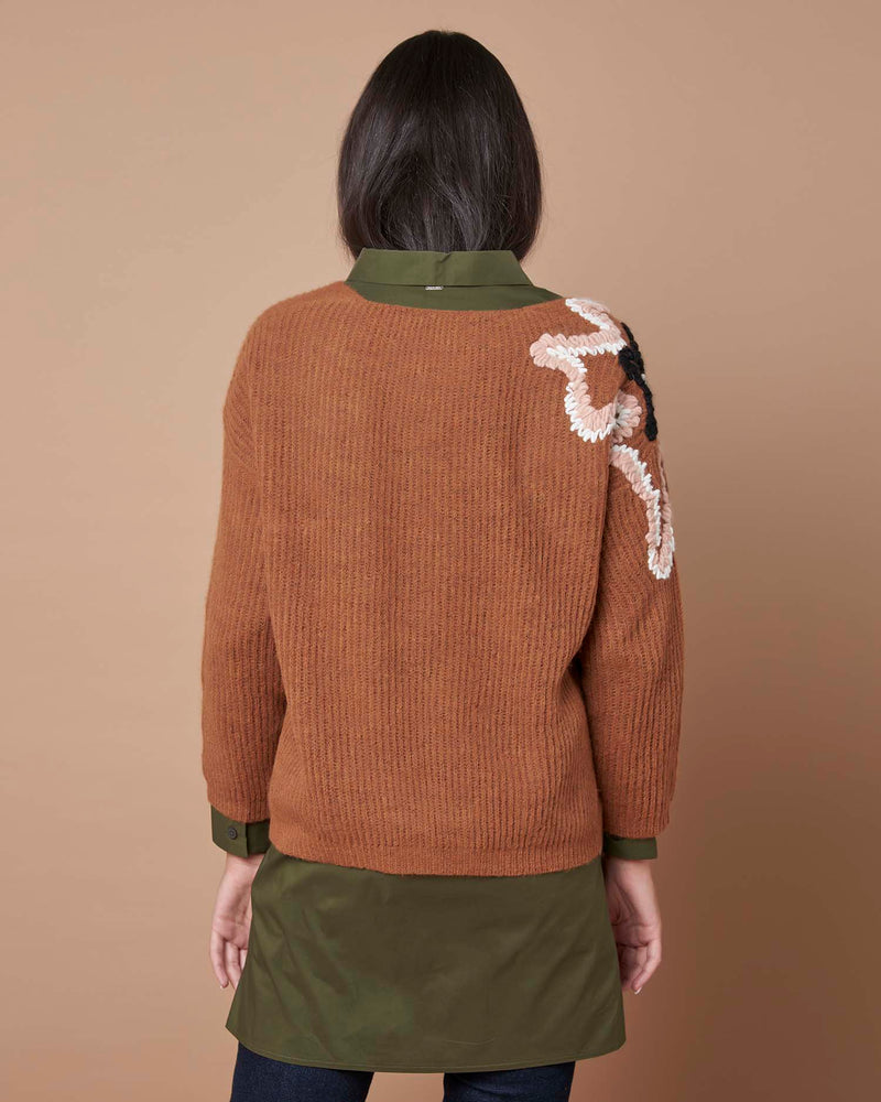 Sweater with embroidered detail