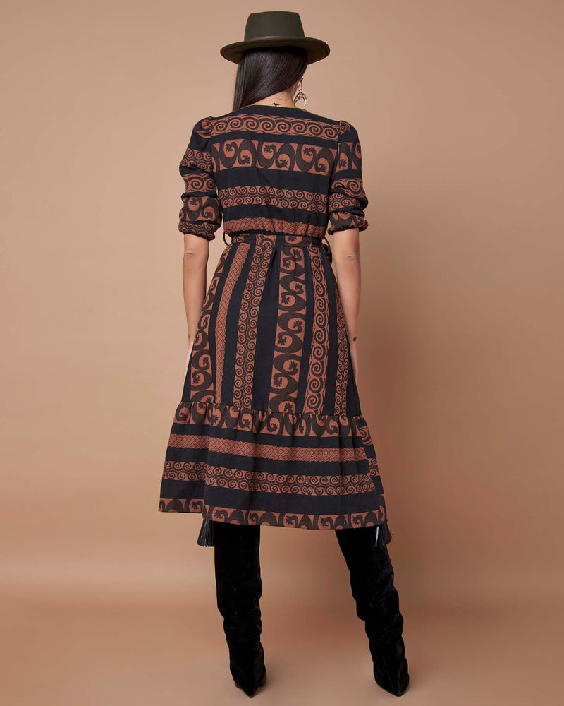 Country style midi dress