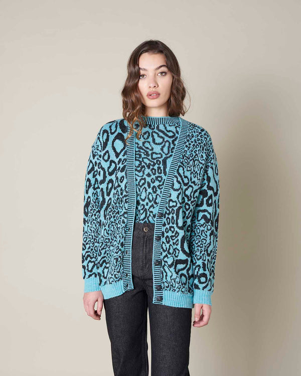 Animal pattern cardigan