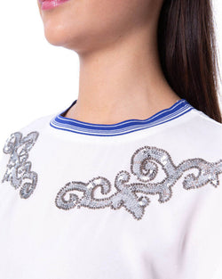 Blouse with strass ABTAL