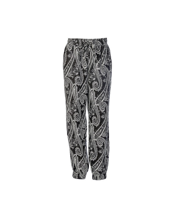 Trousers with paisley pattern