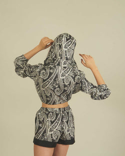 SWEATSHIRT PAISLEY PATTERN WITH ZIP