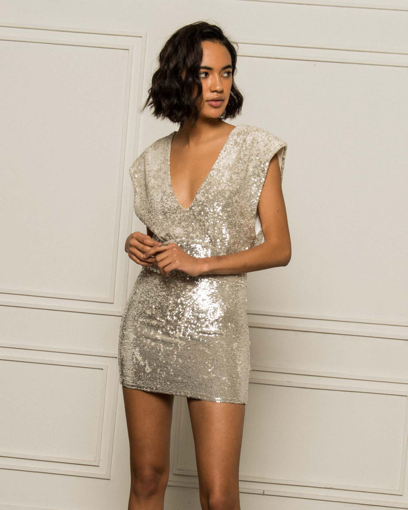 Fitted sequined dress