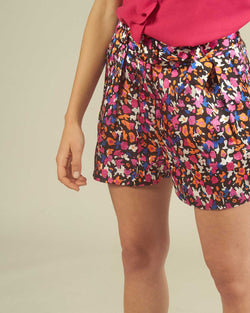 MULTICOLOR SHORTS WITH BELT