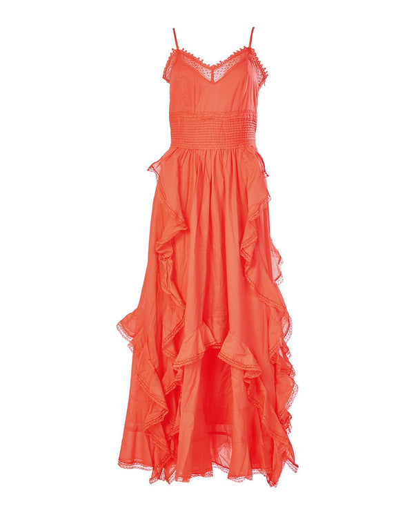Flamenco style dress with ruffles