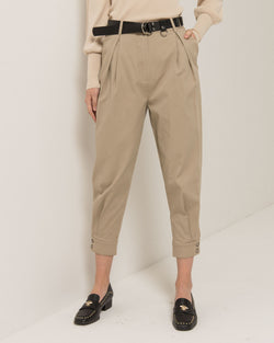 Crop safari trousers