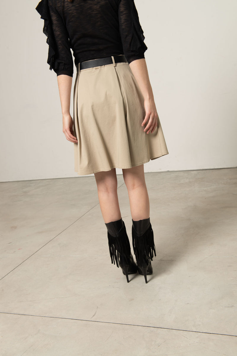 Safari style bell-shaped skirt