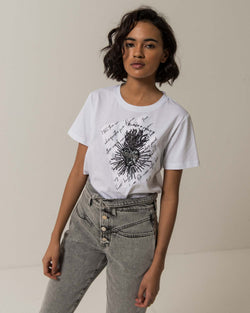 Printed patch T-shirt