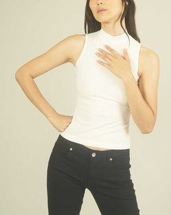 Ribbed basic top