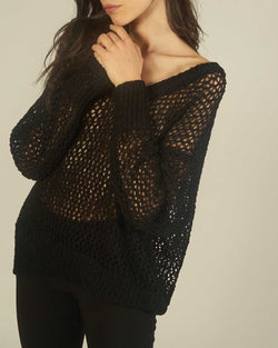 Wide knit sweater