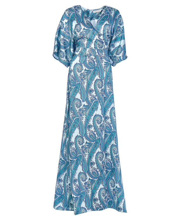 Dress kimono with paisley pattern