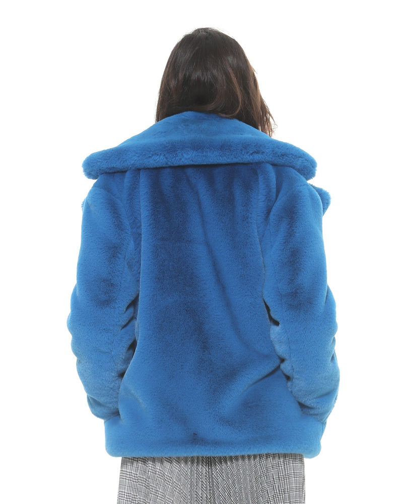 Faux-fur coat