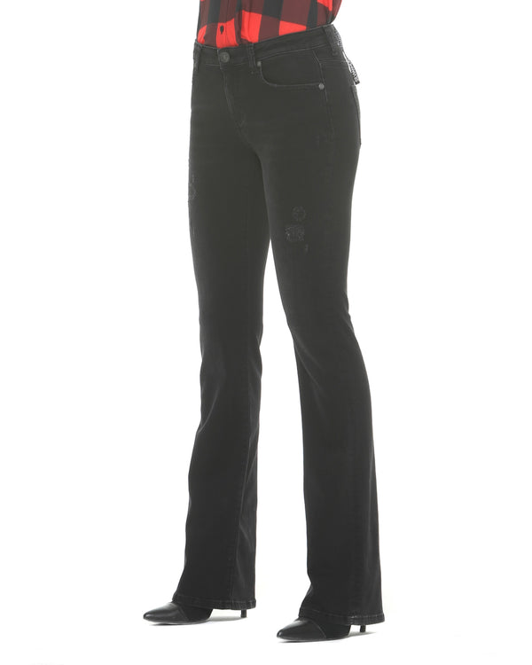 Low waist flare jeans