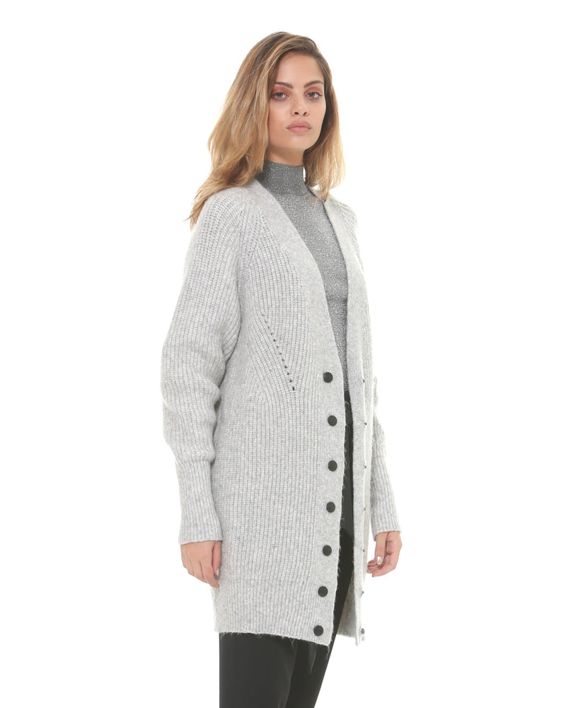 Long knitting cardigan