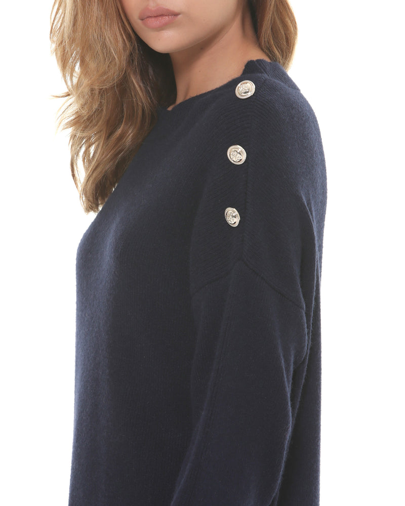 Jersey dress with button details