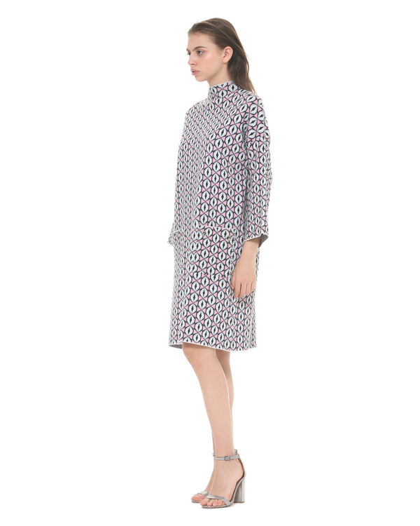 Straight pattern dress