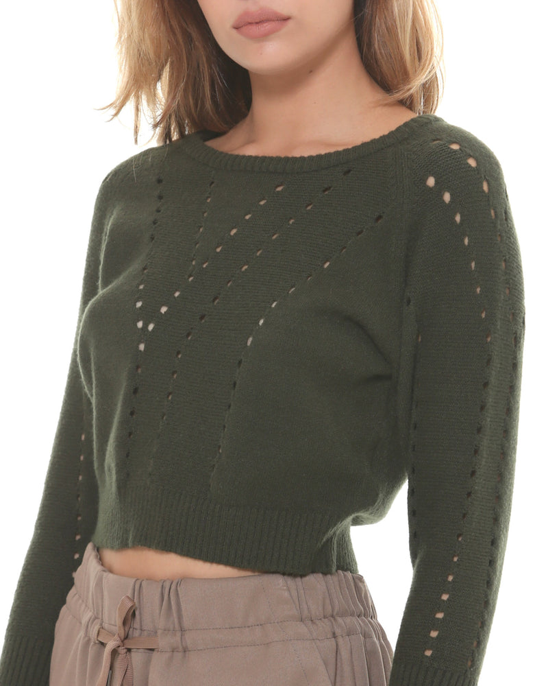 Short drilled sweater