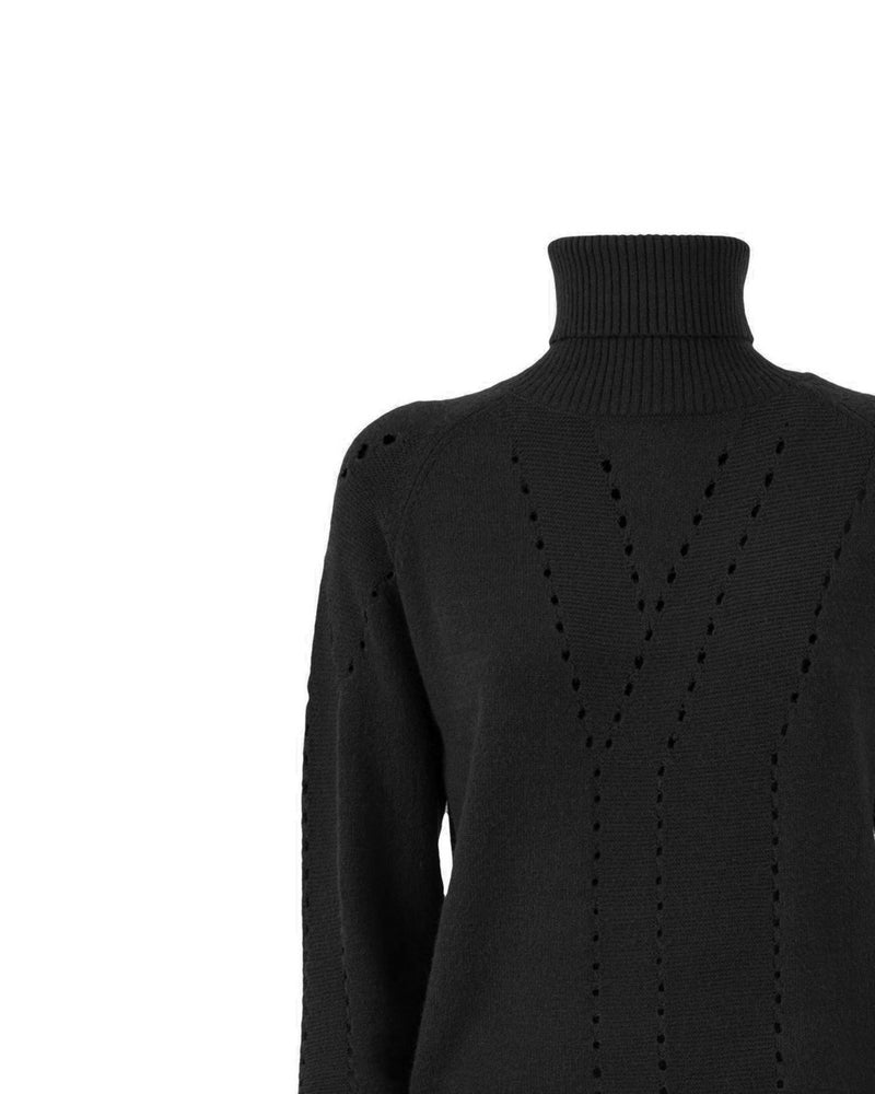 Drilled turtleneck
