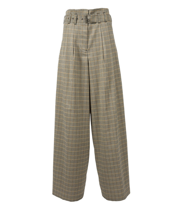 High-waisted palazzo trousers