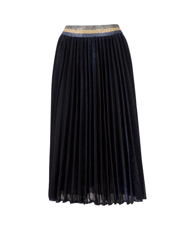 Laminated pleated skirt