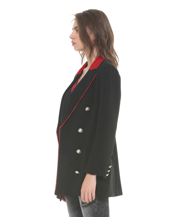 Double-breasted buttoned frock coat