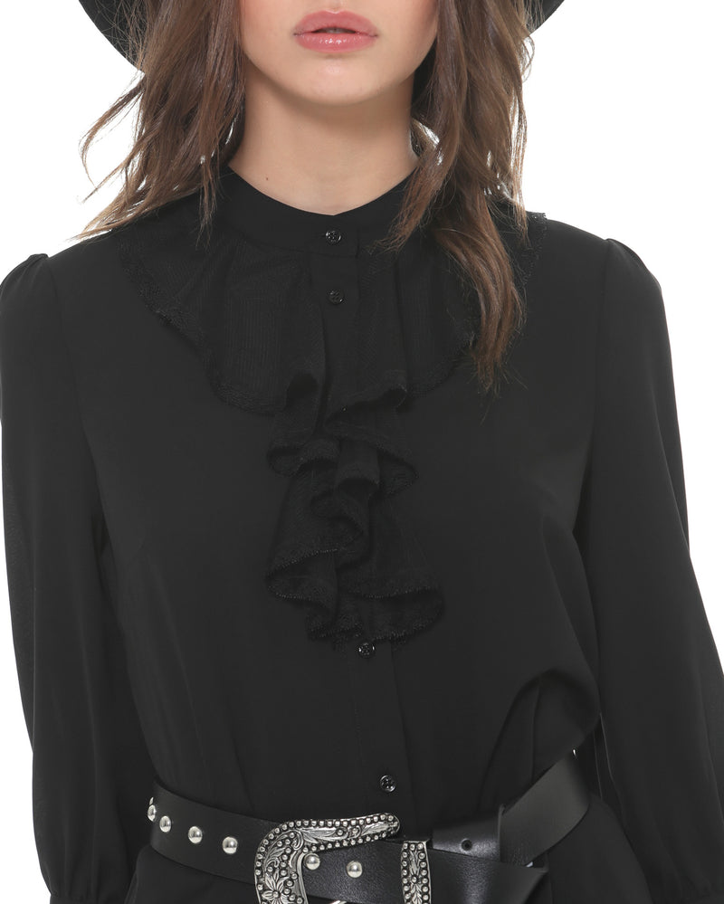Lace Ruches Blouse
