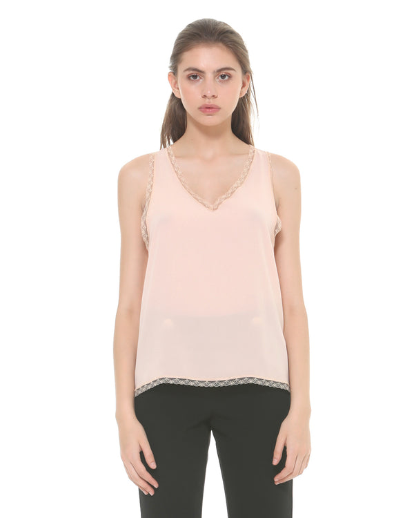 Basic Top With Lace Trim