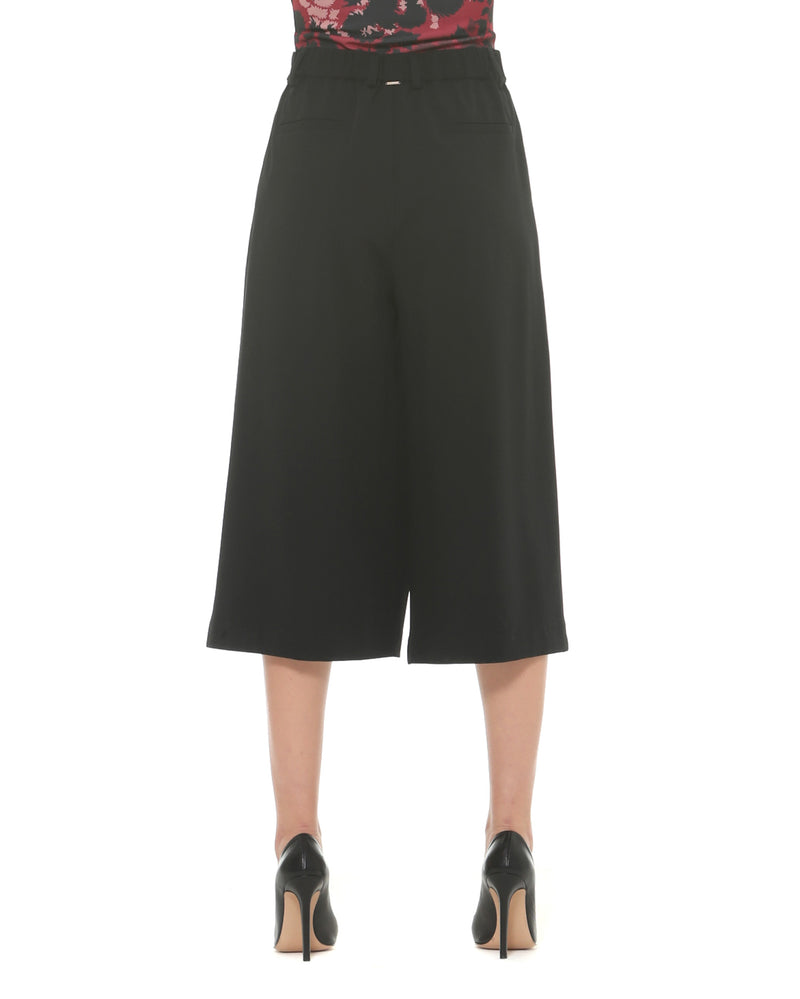 Flare trousers skirt effect