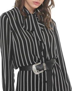Striped Shirt-dress