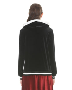 Velvet Sweatshirt With Zipper
