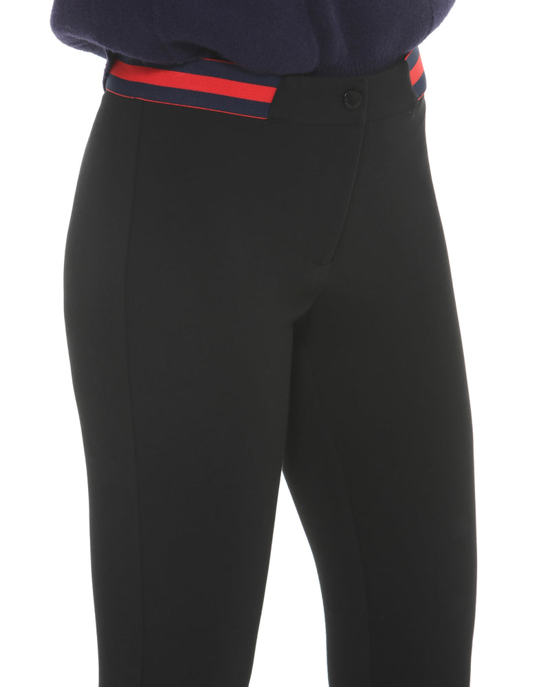 Leggings trousers red waistband