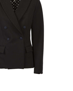 Contrasting collar jacket
