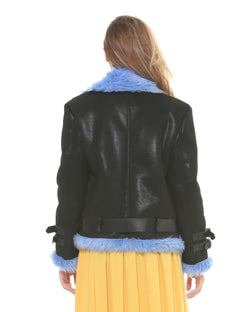 Jacket with contrasting fur