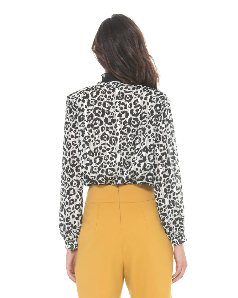 Spotted print blouse