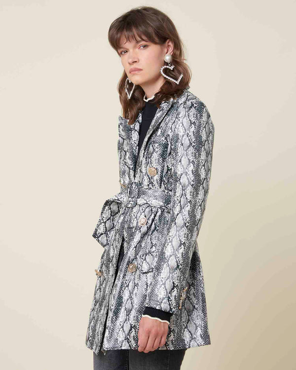 Python pattern jacket with belt
