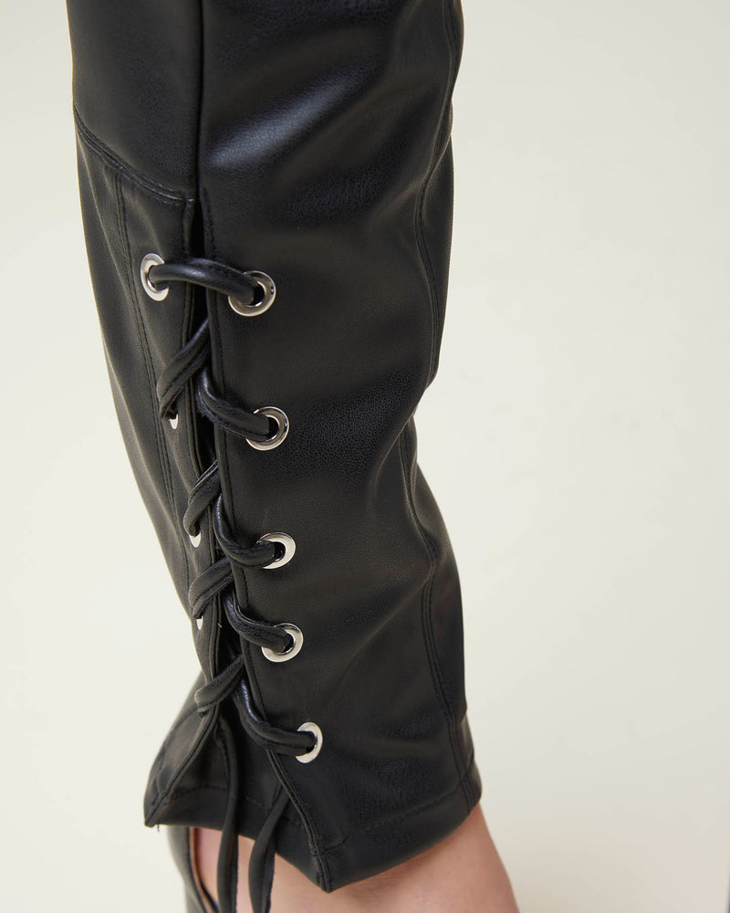 Leatherette trousers