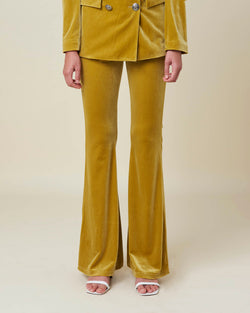 Velvet flared trousers