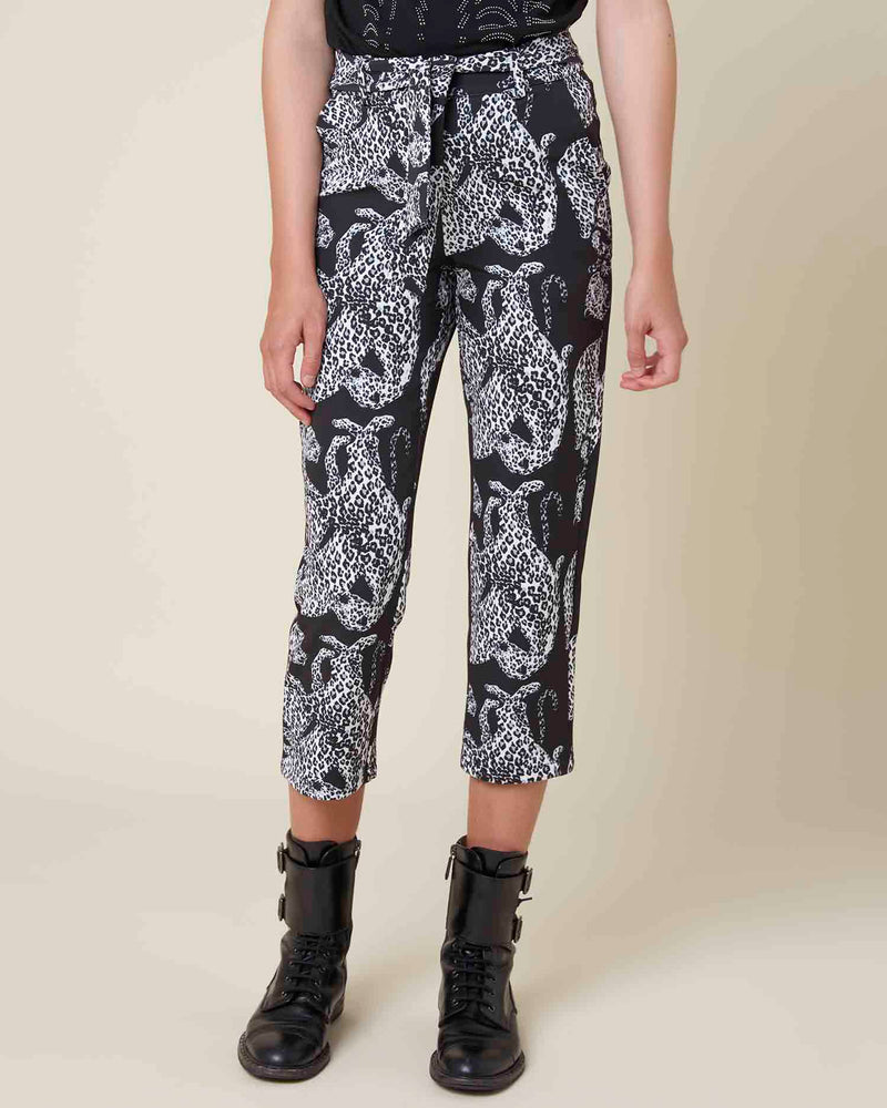 Tiger pattern trousers