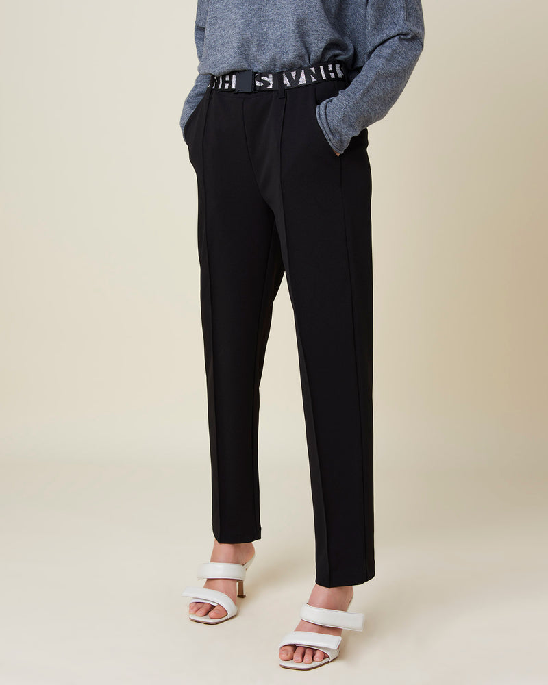 Trousers with SLVNH belt