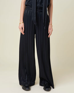 Palazzo trousers with high waist