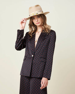 Blazer with dots pattern