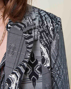 Blazer with printed pattern