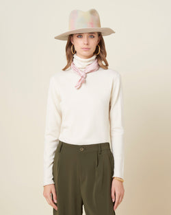 Waisted basic turtleneck
