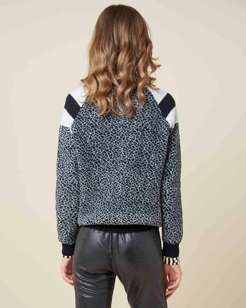 Geometric effect sweater