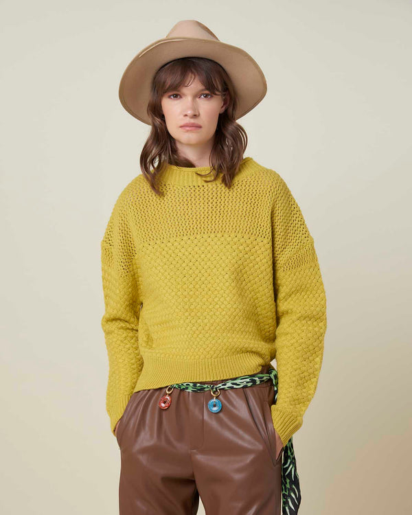 Honeycomb texture sweater