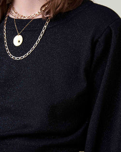 Crop sweater wide sleeves