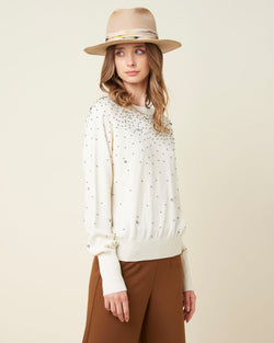 Embellished detailed sweater