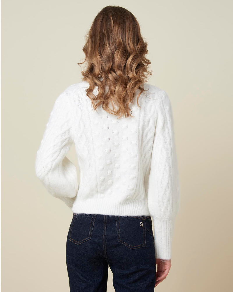 Pearl details sweater